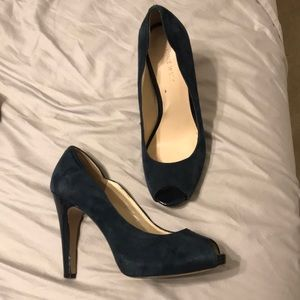 Nine West Navy Suede Heels